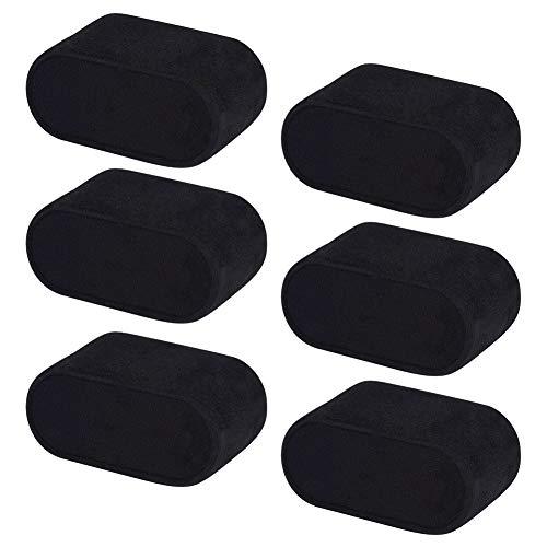 PandaHall Elite 12 Stück 7,2x4,4x3,5 cm Kleines Lederarmband/Uhrenkissen Schmuckständer mit Samt bezogen, schwarz