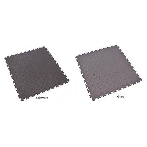 Fortelock® Vinylfliese 2010 ECO (Diamant) - Hohe Belastbarkeit (Industrie-Anwendung) (Grau)