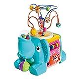 WOOMAX- Elefante de madera con actividades 5 en 1 (Colorbaby 46249)