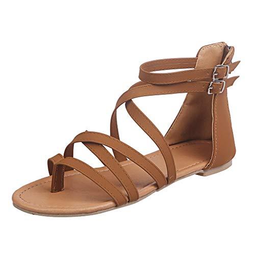 Darringls Sandali Donna Estate Bassi Promozione della Moda Sandali Donna Tacco Sandali Donna Estate Sandalo Incrociato con Cinturino alla Caviglia