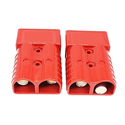 X-Haibei Pair Winch Quick Connect Battery Disconnect Trailer Plug Connector 350A 2/0 Gauge 4.2inchx2.7inchx1.1inch/connector