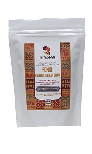 Atacora - Fair Trade Raw Fonio Low Glycemic Index Ancient African Grain (Gluten-Free) - 16 Oz.
