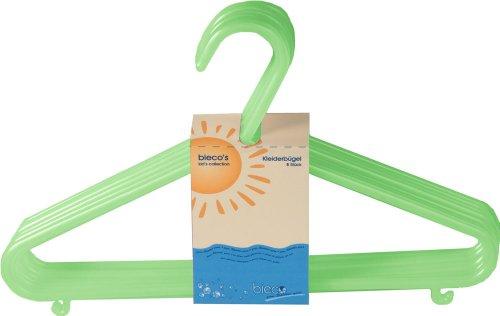 Bieco - Kinder Kleiderbügel Kunststoff, 8er Set, grün