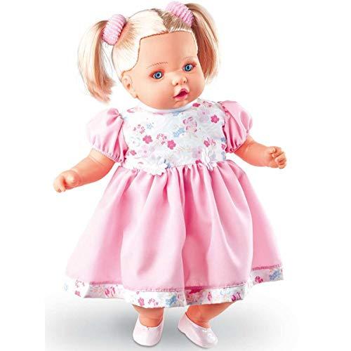Boneca Angelina Loira 62 Frases 48cm. Dismat