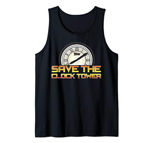 Adult Back To The Future Save The Clock Tower Tank Top