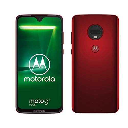 "Motorola Moto G7 Plus, Smartphone Android 9.0, Display 6,2"", Dual Camera da 16Mp, 4/64 GB, Dual Sim, Rosso (Viva Red)"