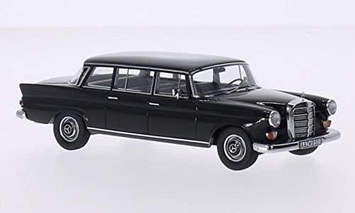 Mercedes 200 W111 Binz Lang, Schwarz Modellauto, Fertigmodell, GLM 1 43