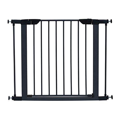 """MidWest 29"""" High Walk-thru Steel Pet Gate, 29"""" - 38"""" Wide in Textured Graphite"""