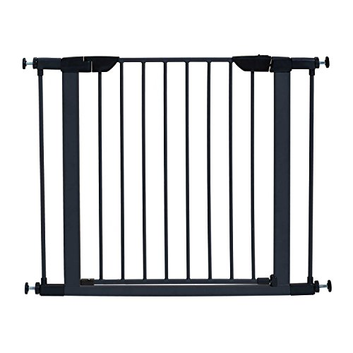 MidWest 29' High Walk-thru Steel Pet Gate, 29' - 38' Wide in Textured Graphite