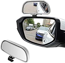 LivTee Adjustable 360 Degree Mounted Blind Spot Mirror HD Glass Wide Angle Side Rearview Mirror Universal, Silvery