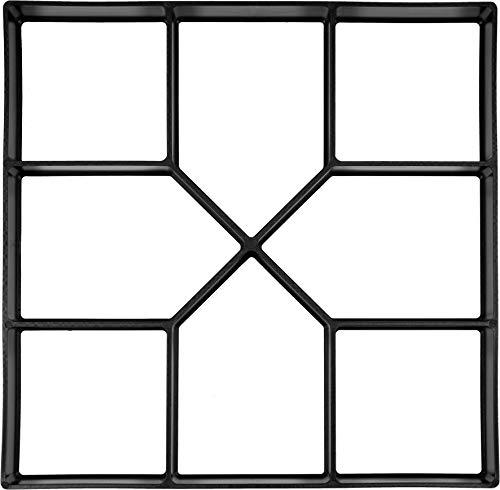 VOREL Pflasterform Modern, mit 8 Kammern, 40 x 40 x 4 cm, stabiles und langlebiges PP-Material für den häufigen Gebrauch, Pflaster Schablone Gießform Gehweg Form Beton Steine