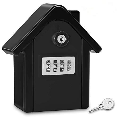 Caja Fuerte Candado para Llaves Grande Pared Candado de Seguridad con Combinación...