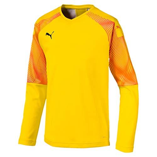 Puma Kinder Cup GK Jersey LS Torwarttrikot, Cyber Yellow Black, 140