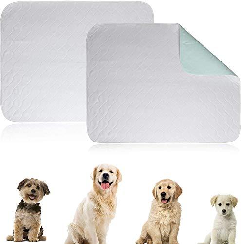N\C Alfombrilla de entrenamiento para cachorros (87 x 75 cm), 2 cambiadores lavables a máquina para perros, almohadillas de incontinencia impermeables superabsorbentes para mascotas