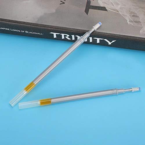 100 piezas de bolígrafos borrables por calor rotulador de tela rotulador de tela juego de rotuladores de tela para alta temperatura desvanecimiento costura confección(Plata)