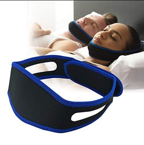 Anti-Schnarch Kinnriemen Bandage Jaw Corrector Band Keine Schlafapnoe Masken Einstellbare natürliche Schnarchentlastung für Mundatmer