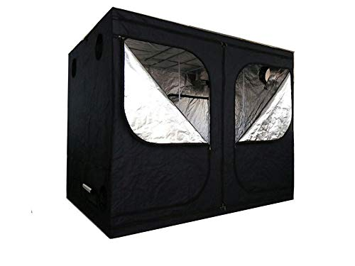 SavingPlus Indoor Grow Light Box Tent Aluminum lined Bud Dark Room for Hydroponic Fan 240X200X200CM