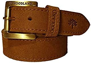 b57f1a8bf Wood Land Mens Brown Genuine Leather Casual Belt With Heavy Buckle for Men  Size 38