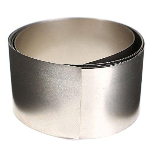 Hitommy 99,96% Reine Nickel Metallfolie Silbergrau NI plattiert Dünnes Blech 0,1 x 30 x 1000 mm
