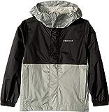 Marmot Kids Boy's PreCip Eco Jacket (Little Kids/Big Kids) Black/Grey Storm SM (6/7 Little Kids)