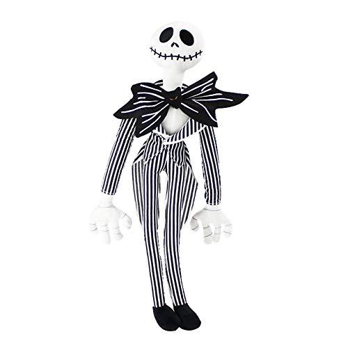 LANZZ 50Cm La Pesadilla Antes De Navidad JackSkellingtonSally Esqueleto Negro Calavera De Peluche De Juguete Muñeca De Peluche Regalo De Cumpleaños / Halloween