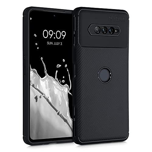 kwmobile Hülle kompatibel mit Xiaomi Black Shark 4/4 Pro - Handyhülle Silikon Hülle - Carbon Schwarz