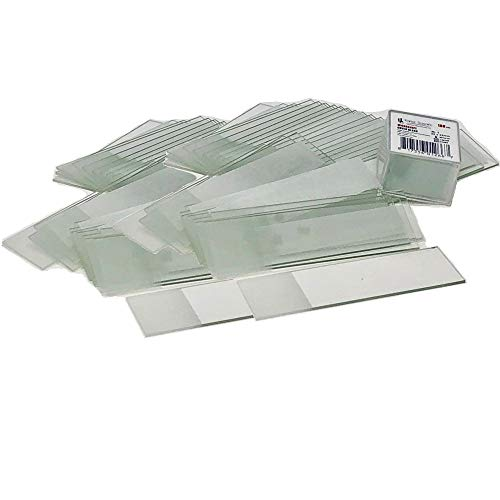 Frosted Microscope Slides and Cover Slip Set, Ground Edges, 90 Corners, 3x1, Karter Scientific (Pack of 72)