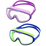 HeySplash [2PZS Gafas de Natación para Niños Transparente Sin Fugas...
