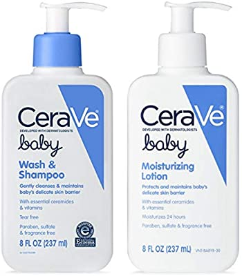 CeraVe Baby Skincare Bundle | Contains CeraVe Baby Wash & Shampoo and CeraVe Baby Lotion 1 ea