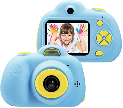Jaydear Kids Toys Camera for 3-6 Year Old Girls Boys, Compact Cameras for Children, Best Gift for 5-10 Year Old Boy Girl 8MP HD Video Camera Creative Gifts,Blue(16GB Memory Card Included)
