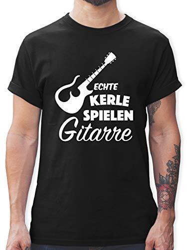 Instrumente - Echte Kerle Spielen Gitarre - XL - Schwarz - Fun - L190 - Tshirt Herren und Männer T-Shirts
