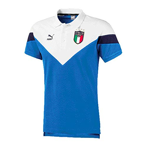 PUMA Polo FIGC Iconic MCS Azzurro 20/22 Italia S Azzurro