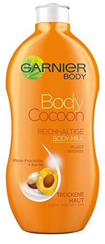 Garnier Body Cocoon Reichhaltige Body-Milk, für trockene Haut, schützt und regeneriert, mit Micro-Fruchtölen und Shea-Butter, 6er-Pack (6 x 400 ml)