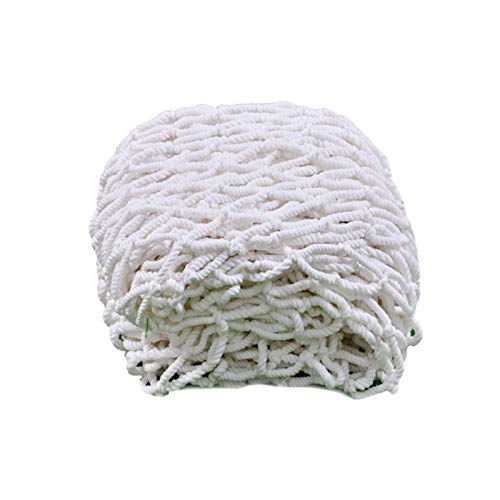 Ljw Rope Net Safety, Children Protection Safety Fence Climbing Woven Rope Truck Cargo Trailer Netting White Nylon Cover Rock Tree House Swing Balcony (Size : 3x4m(10x13ft))
