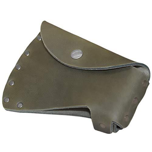 Hide & Drink, Rustic Durable Leather Hatchet Head Sheath Holster for 1.5 in. Belts, Axe Case, Blade Cover, Lumberjack Outdoors Work Essentials, Handmade Includes 101 Year Warranty :: Dark Jade