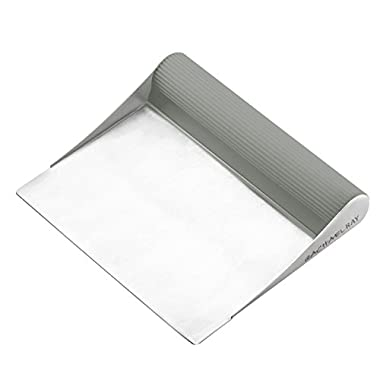 Rachael Ray Tools and Gadgets Stainless Steel Bench Scrape, Sea Salt Gray