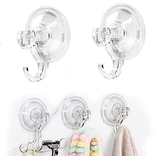 Gancho Ventosa ,Baño Ultra Fuerte Sin Agujeros Colgador Ventosa Super Resistente ,MAX 3 kg para Toallas Pared Puerta Ropa, Perchero Ventosa Reutilizable 2 Piezas