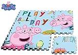 Kids- Peppa Pig Alfombra-Puzzle eva Suelo 90x90cm, Multicolor (PP17004)