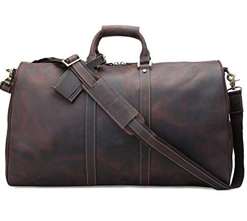 """Polare Ambassador Style Retro Weekender Bag 23"""" Overnight Luggage made with..."""
