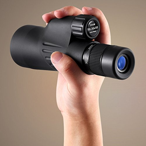 Continuous Zoom Monocular Telescope 10-30x50 High-power High-caliber Large-caliber Mobile...