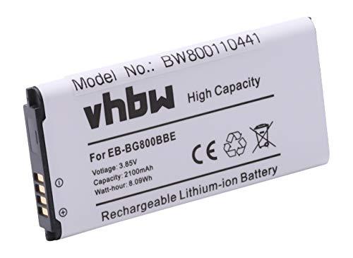 vhbw Li-Ion Batteria 2100mAh (3.8V) per cellulari e smartphone Samsung Galaxy S5 Dx, S5 Mini, SM-G800F, SM-G800H sostituisce EB-BG800BBE.