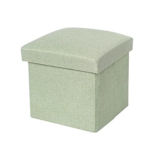 Taloit Reposapiés multifuncional de algodón y lino, taburete plegable para ahorrar espacio, ideal para el hogar, oficina, sala de estar