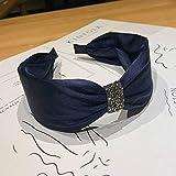 HHTC 2020 Nouvelle-coréen Boutique Hairband Diamant Femmes Filles noueuse Bandeau Cheveux tête Bands Hoop Accessoires Scrunchy Coiffe (Couleur : E)