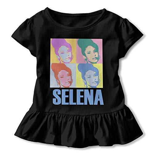 Se-Le-Na Quin=Ta=Nilla Toddler 2-6t Comfortable Cotton Baby Girl Children's T-Shirt 4t Black