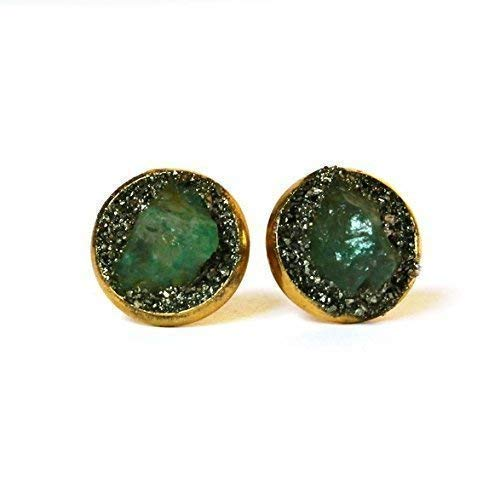 Green Raw Emerald Limited time Limited time trial price trial price Earrings Stud Birthstone
