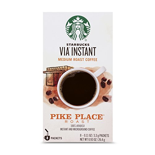 Starbucks VIA Instant Pike Place Roast Medium Roast Coffee, 8 Count (Pack of 1)