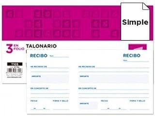 Liderpapel Talonario camarero 8/º original y copia t252 zig zag 10 unidades