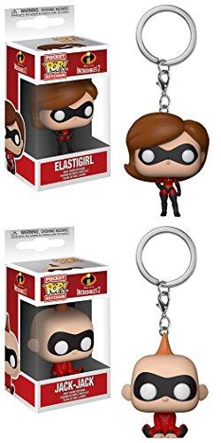Pocket POP! Keychain: Disney: Los Increíbles 2: Elastigirl + Jack-Jack