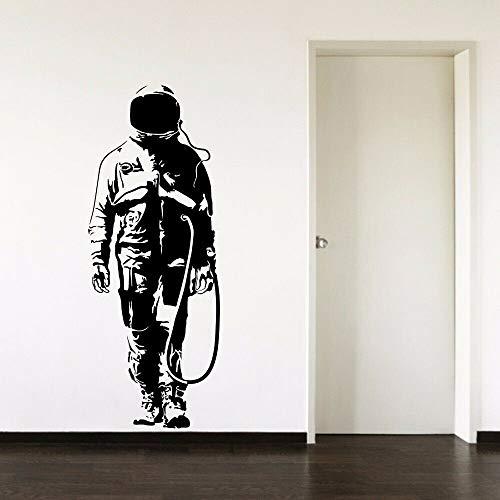AGjDF Astronauta Etiqueta de la Pared Espacio extraíble piloto Vinilo Pegatina decoración del hogar Sala de Estar decoración de la habitación accesorios57x22cm