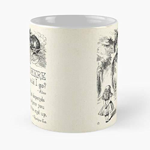 N\A Carroll Quote Lewis Books In Wonderland Carol Lover Day Mothers Digital Book Alice - La Mejor Taza de cerámica de 11 onzas - Taza clásica para café, té, Chocolate o café con Leche